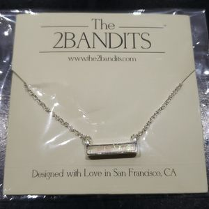 Jewelry - 2Bandits Silver plated Bar Necklace